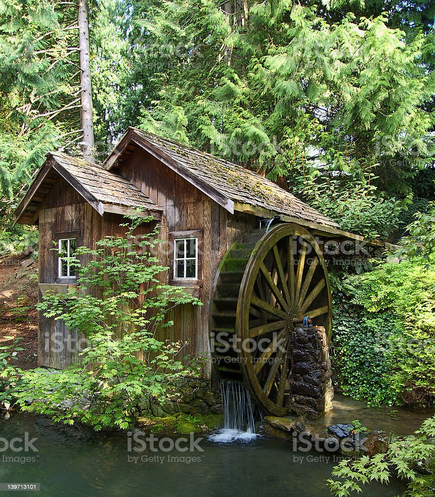 Old Mill Stream stock photo