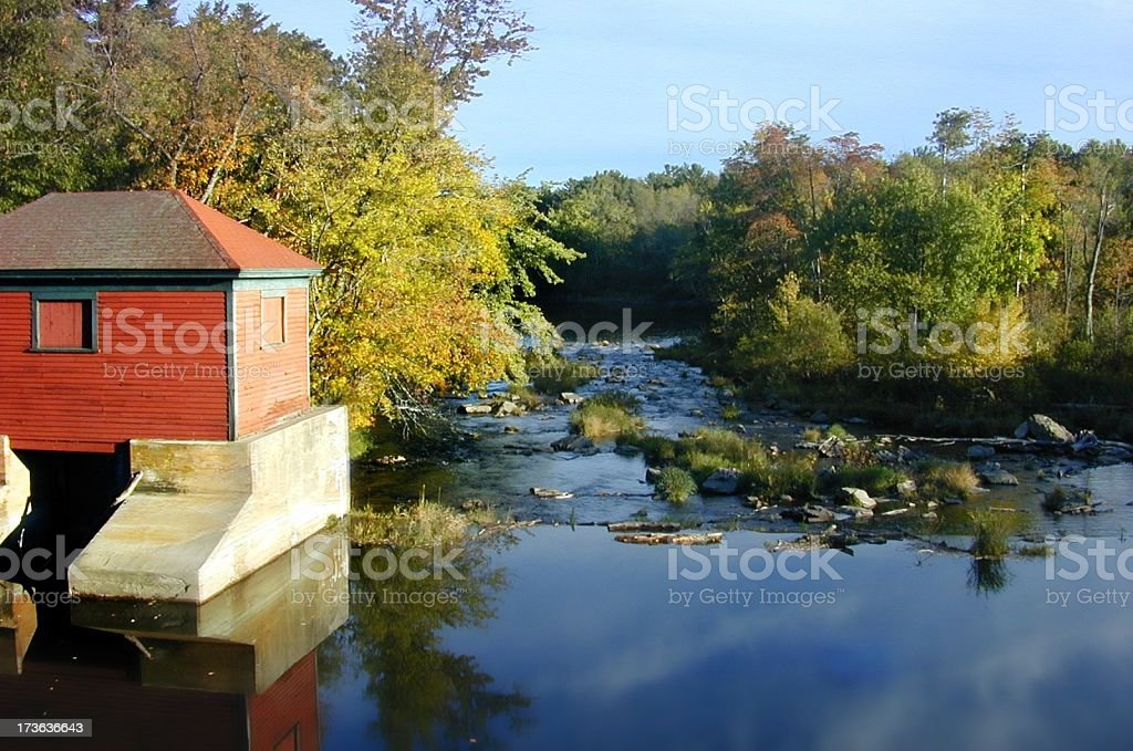 Old Mill Stream royalty-free stock photo