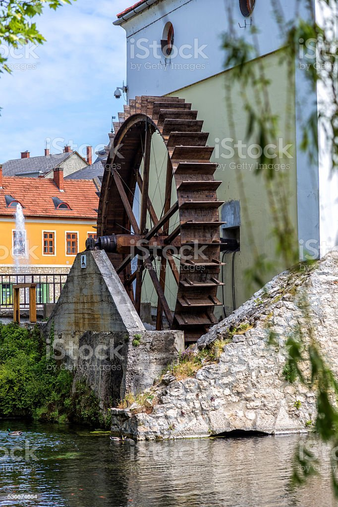 Old mill whel stock photo