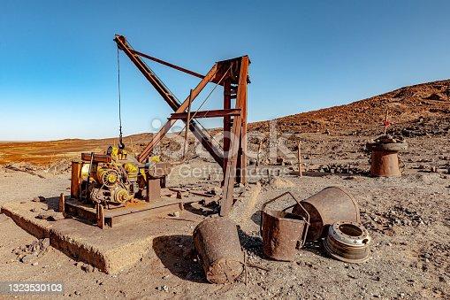 Old Mine in Erg Chebbi Desert, Morocco, North Africa