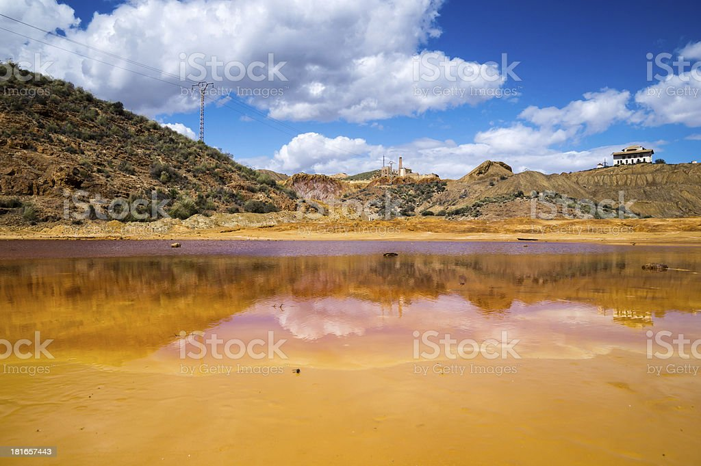 old mine in Mazarron, Murcia, Spain royalty-free stock photo