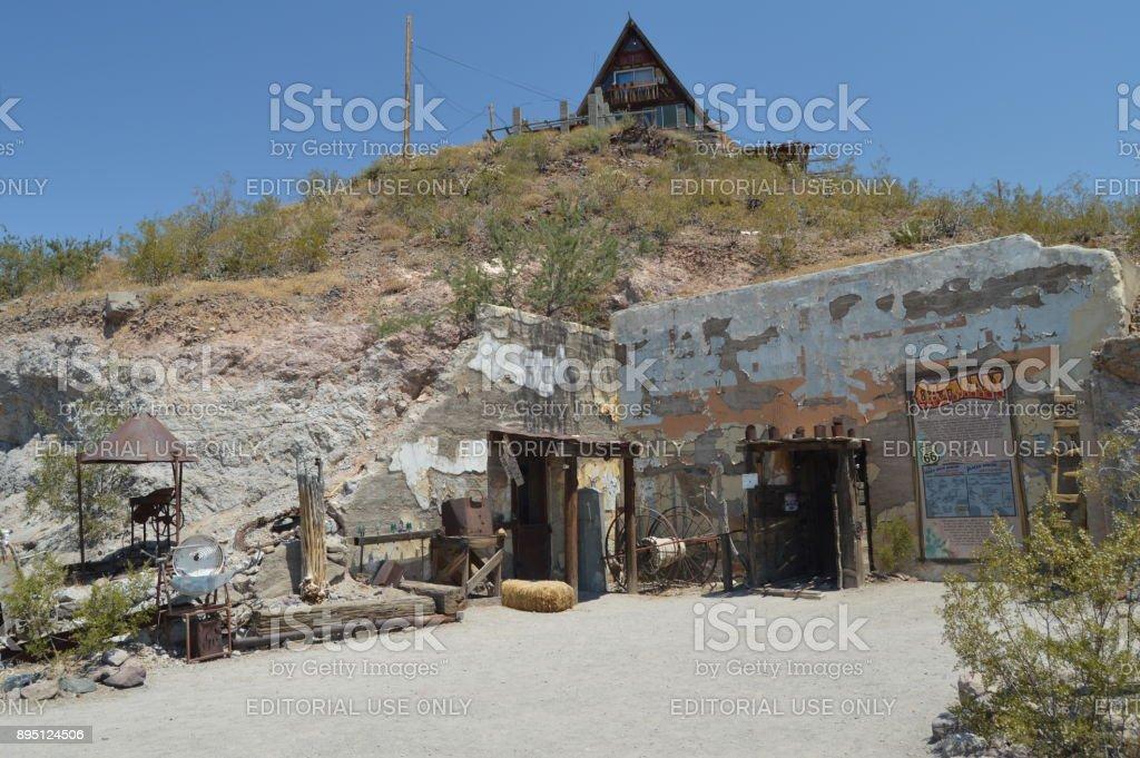 Viejo museo de las minas en Oatman, 22 de junio de 2017. Ruta 66, Oatman. Estados Unidos de Arizona, EEUU. - foto de stock