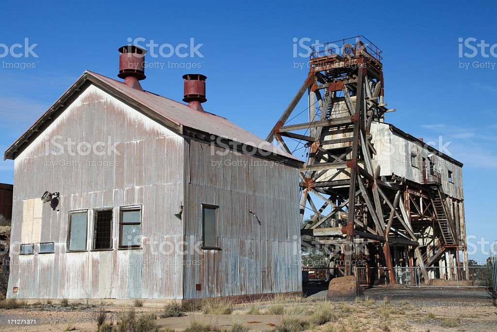 Old mine stock photo