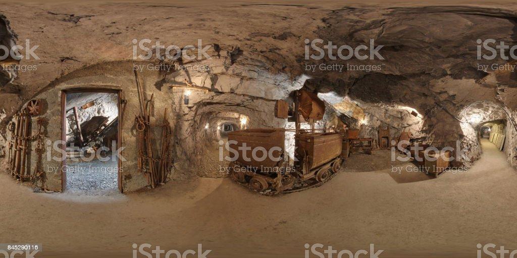 Old mine site stock photo