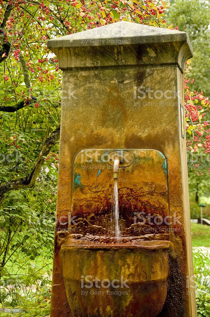 Old mineral fountain royalty-free stock photo