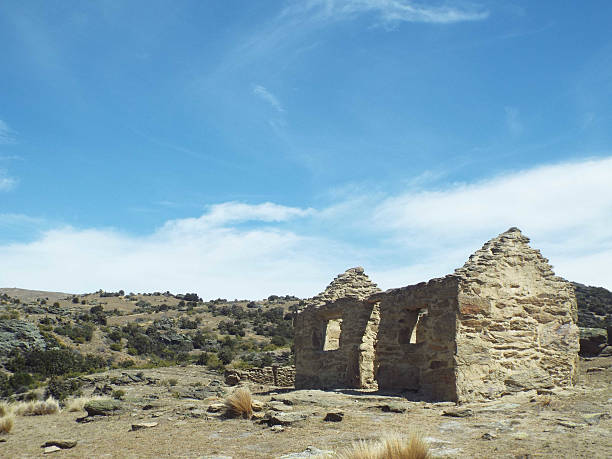 Old Mining Settlement stock photo
