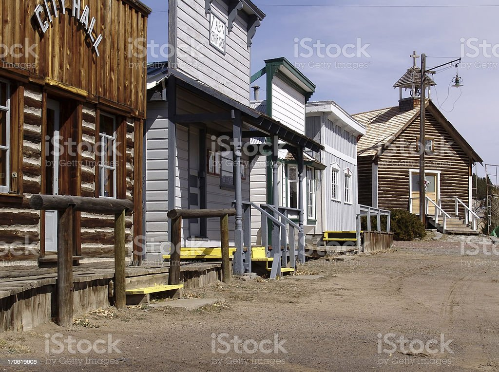 Old Mining Town stock photo