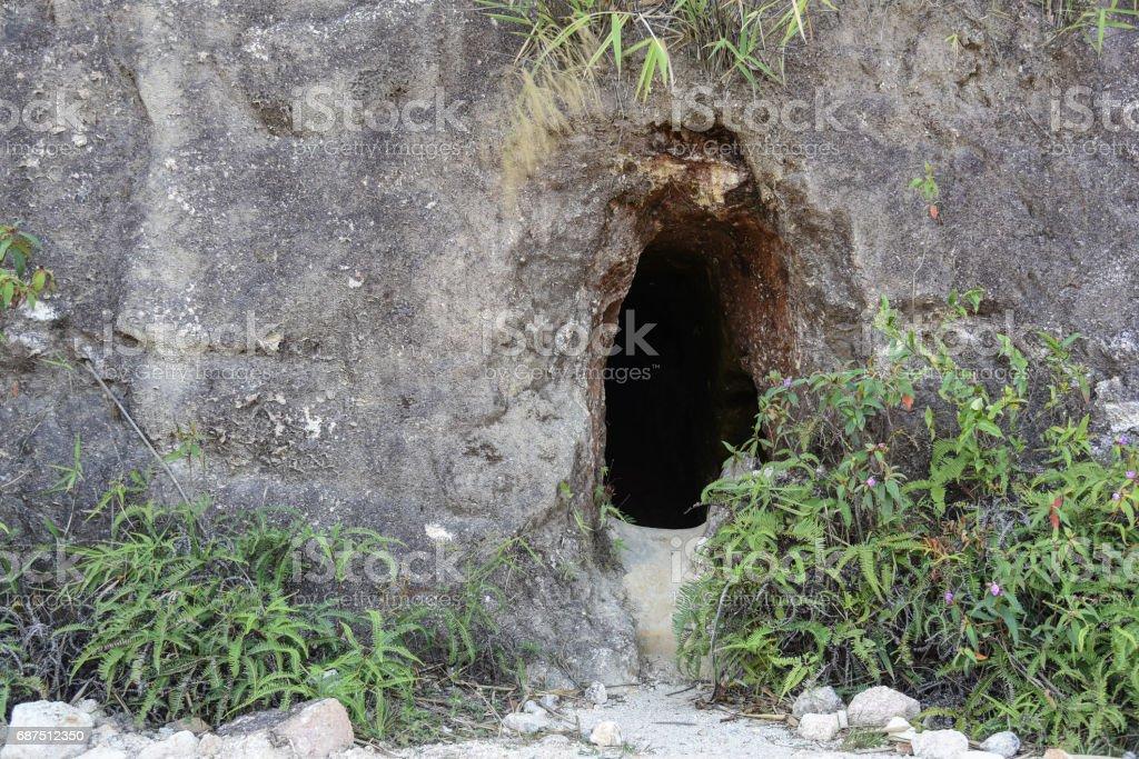 Old mining tunnel at Pilok stock photo