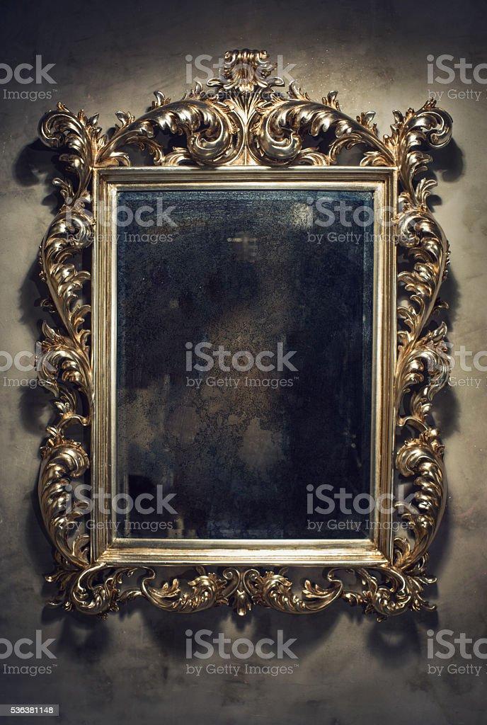 Old mirror stock photo
