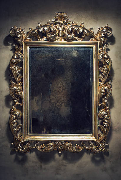 Old mirror stock photo