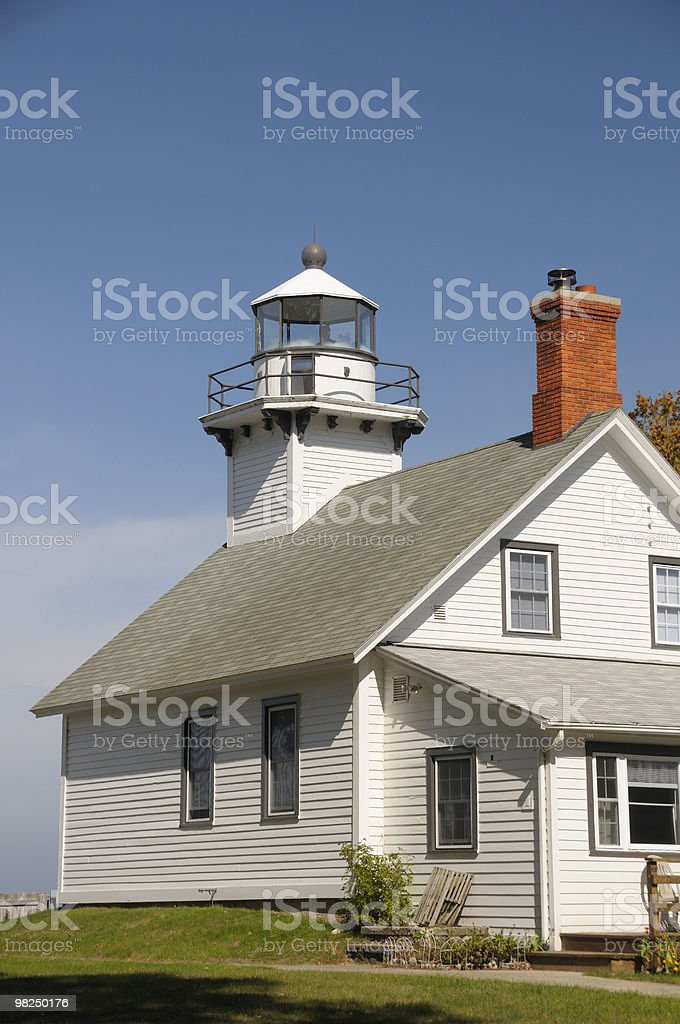Old Mission Lighthouse, Traverse City, Michigan royalty-free stock photo
