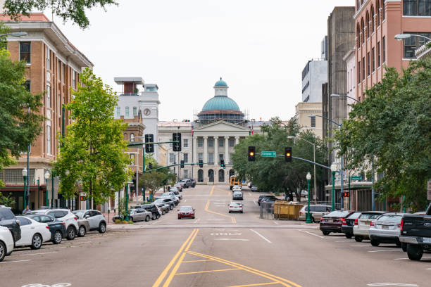 Old Mississippi Capitol Building stock photo