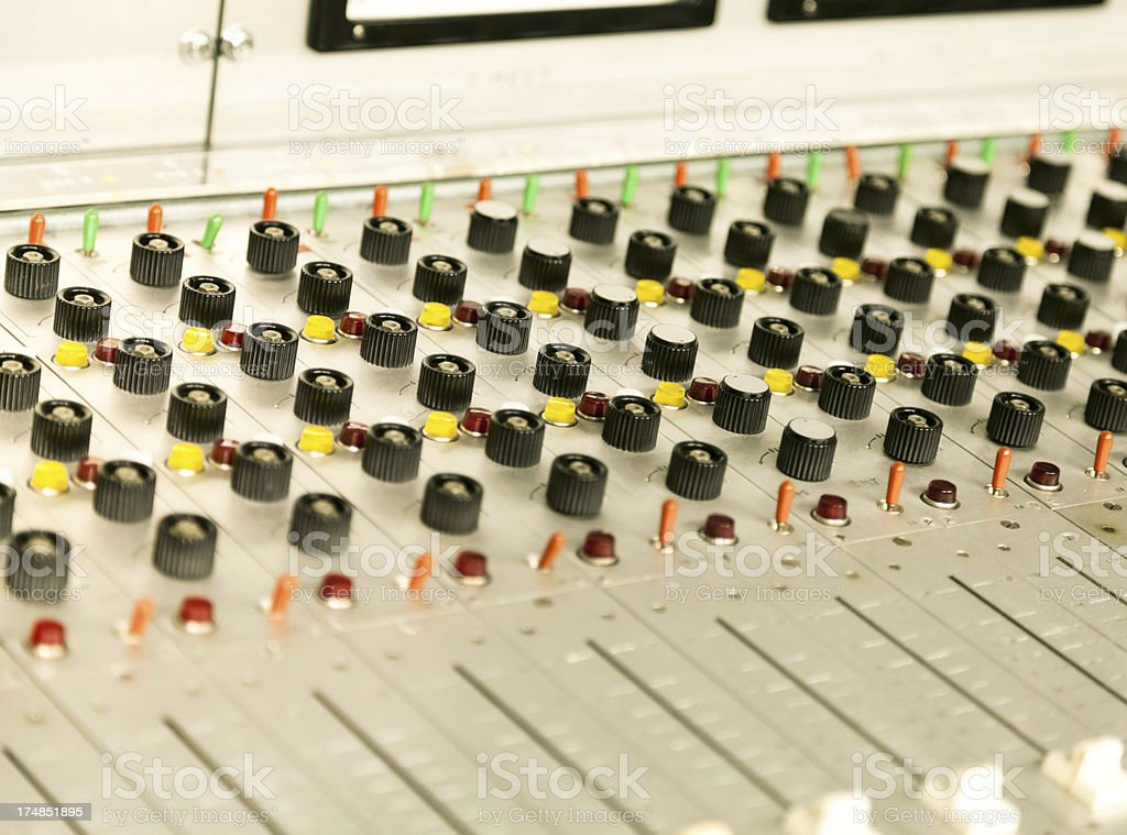 Old mixing board royalty-free stock photo