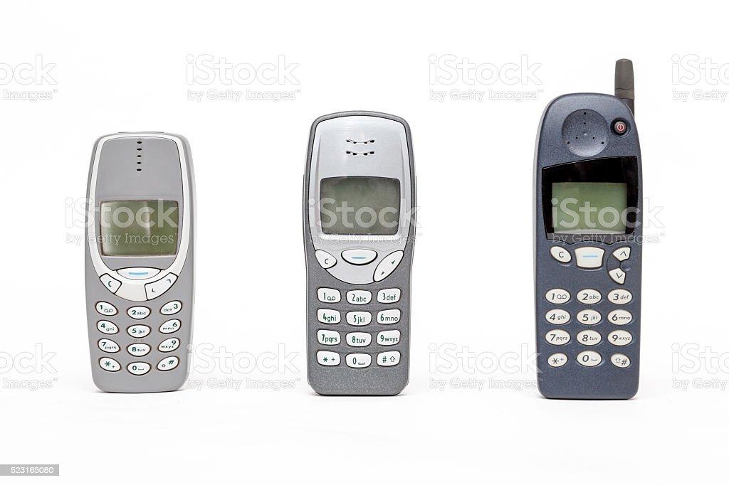 Vecchio Cellulare Su Sfondo Bianco Fotografie Stock E Altre