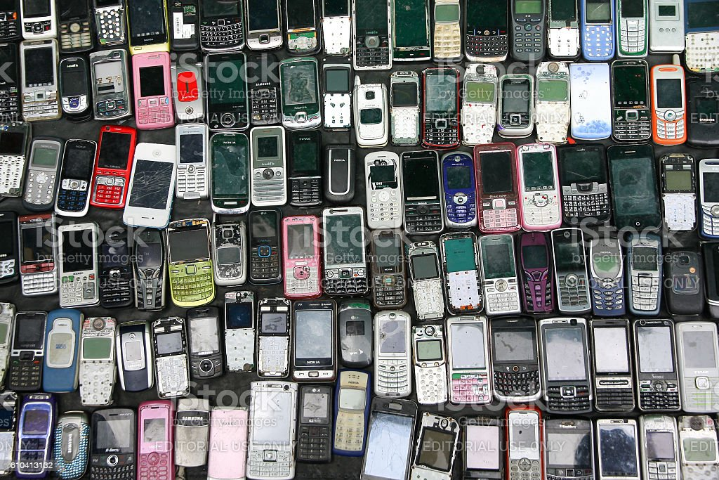 Old Mobile Phone. stock photo