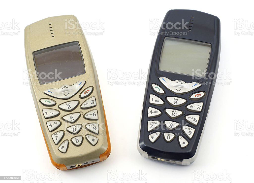 Old mobile phones royalty-free stock photo