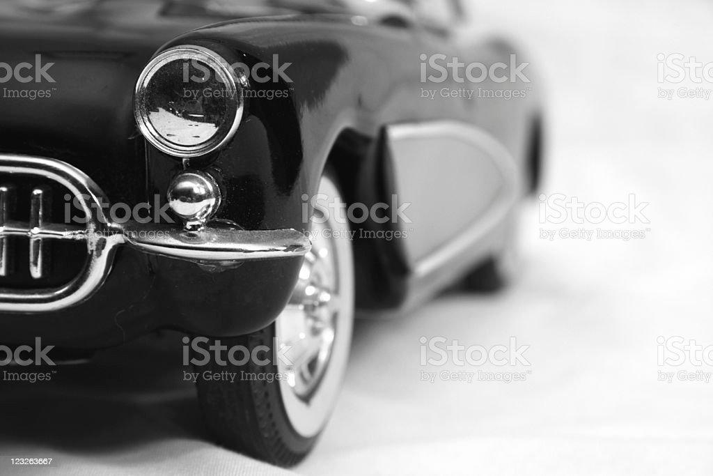 old model car macro stock photo