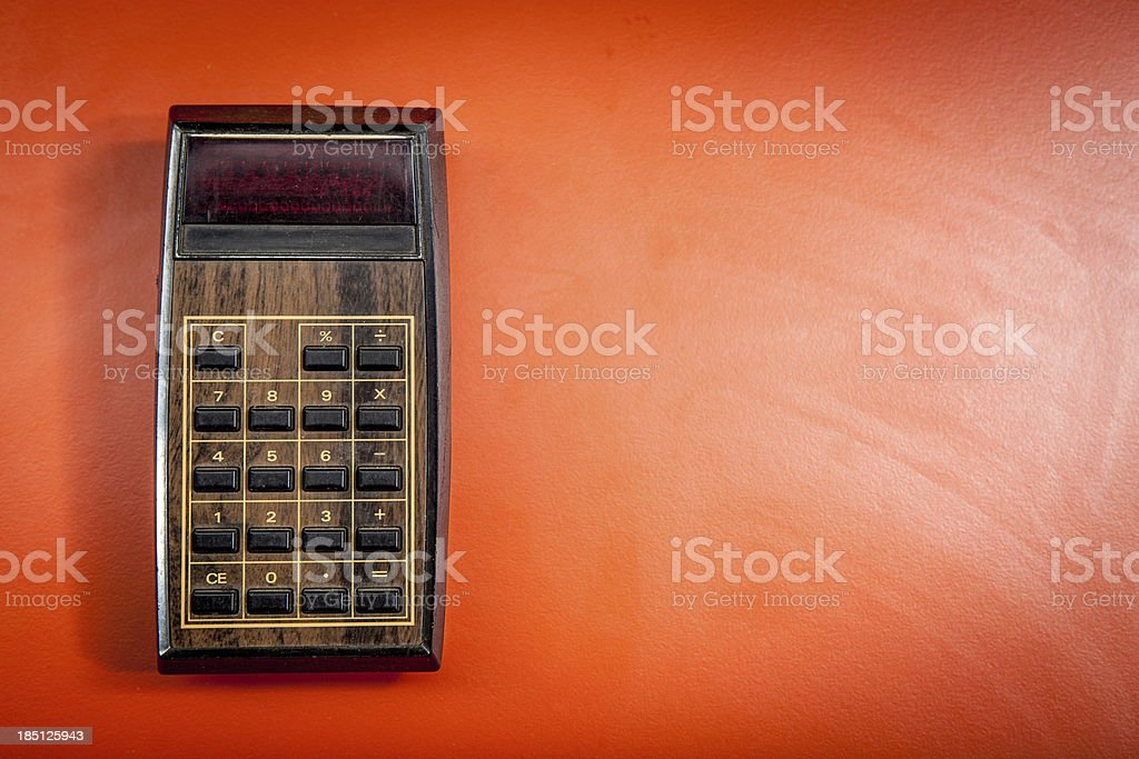 Old Model Electronic Calculator Isolated Object Vintage Machine stock photo