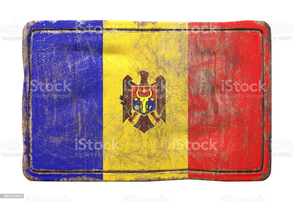 Old Moldova flag stock photo