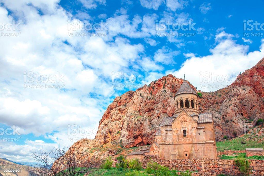 Old Monastery of Geghard in Armenia stock photo