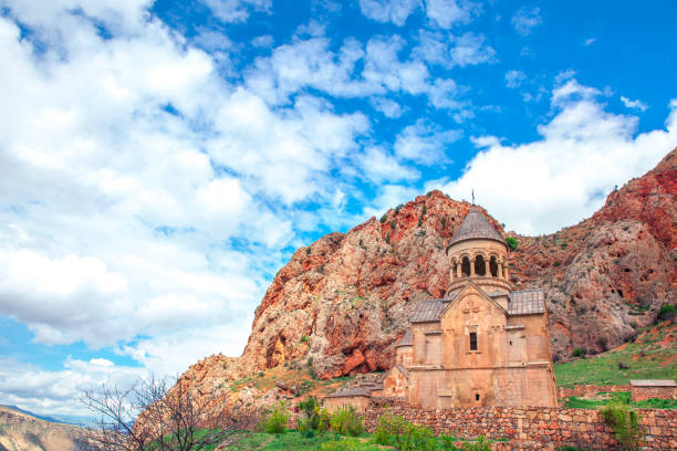 Old Monastery of Geghard in Armenia Old Monastery of Geghard in Armenia under  blue sky yerevan stock pictures, royalty-free photos & images