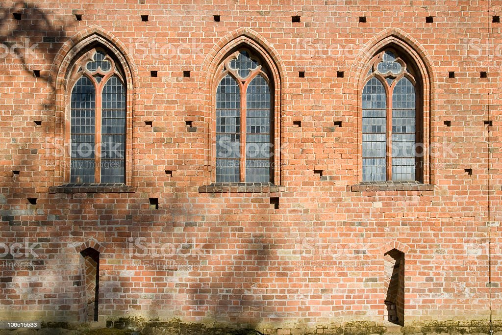 Old Monastery Windows royalty-free stock photo
