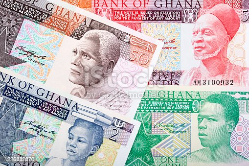 Old money from Ghana - Cedi a business background