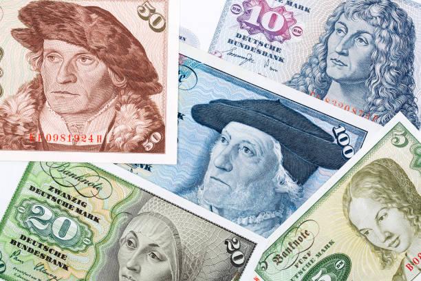 Altes Geld aus der BRD, einen Hintergrund – Foto