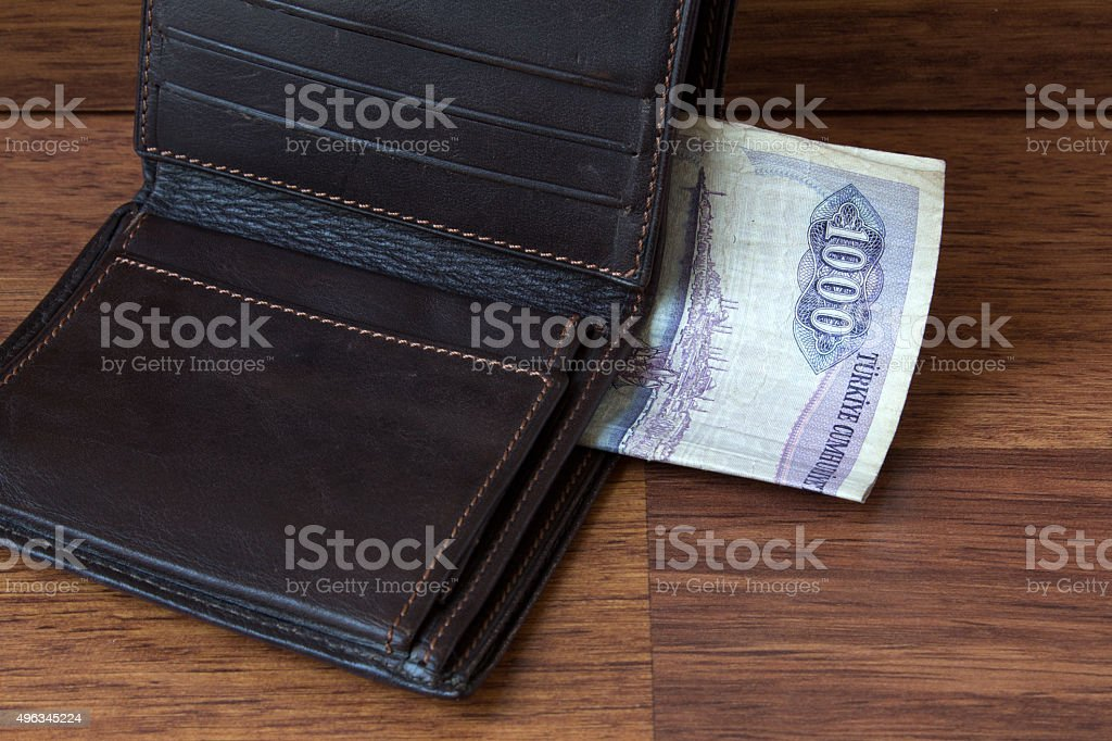 old money in wallet