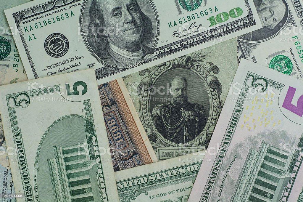 Old money New Money stock photo