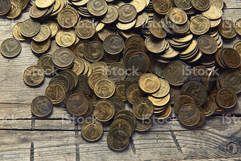 Old money of the Soviet union stock photo