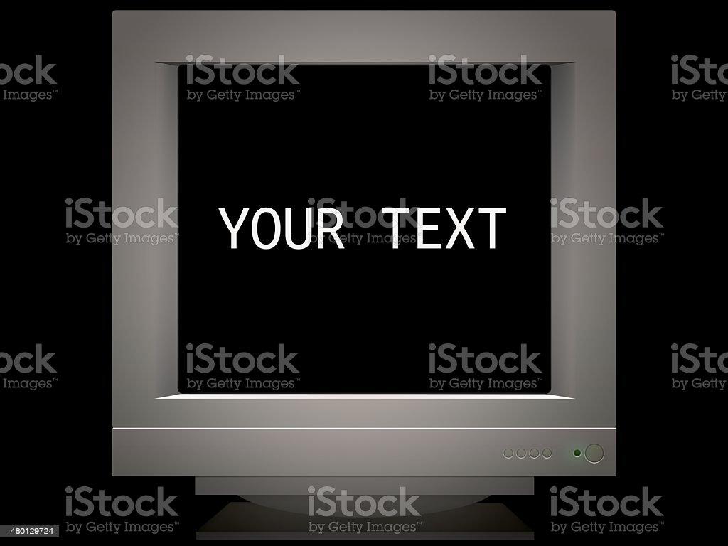 Stary ekranu monitora tło dla presentation. Miejsce na tekst – zdjęcie