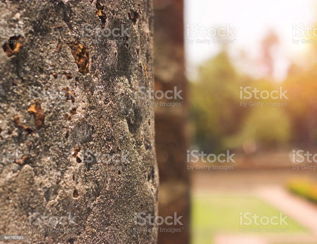 Old monolithic and natural background. stock photo