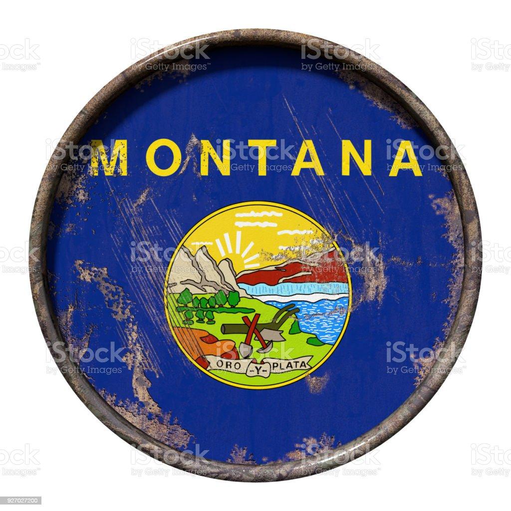 Old Montana flag stock photo