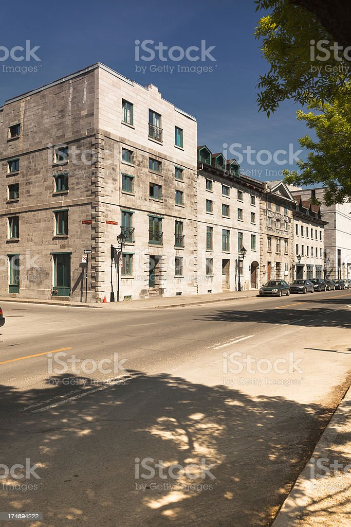 Old Montreal, Quebec, Canada royalty-free stock photo