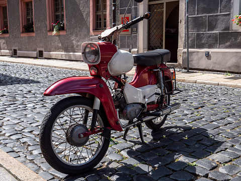 Old moped from the former GDR