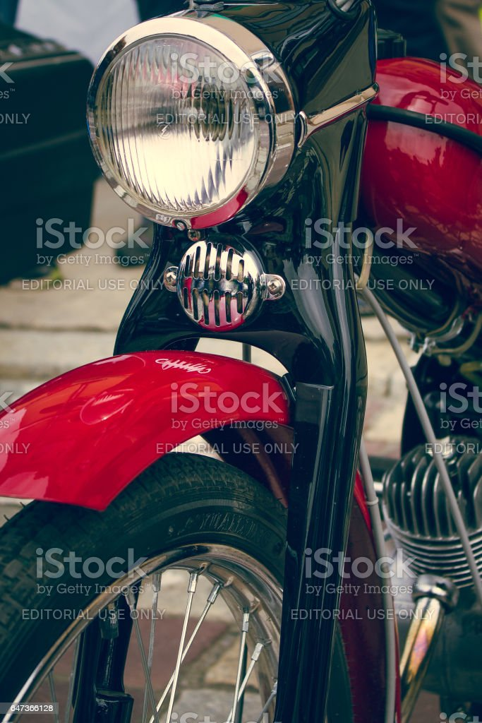 Old moped stock photo