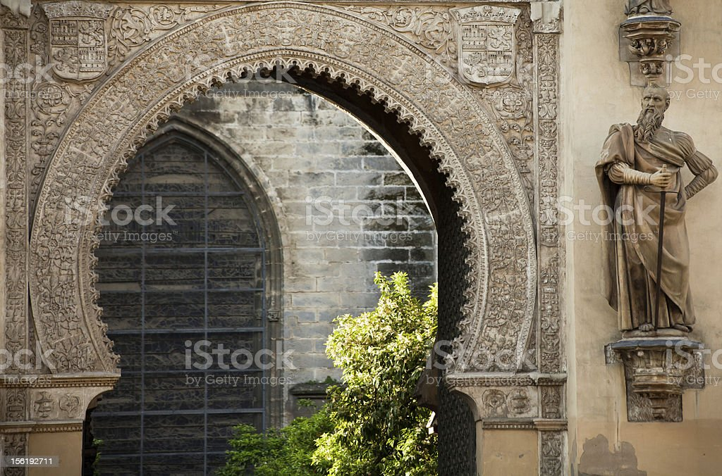 Old Mosque Entrance, Sevilla royalty-free stock photo