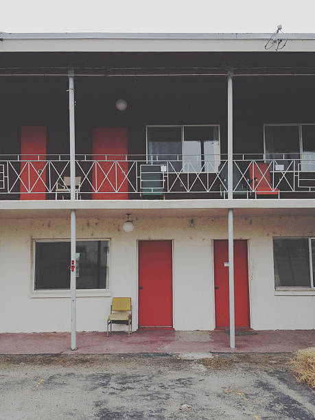 Old Motel stock photo