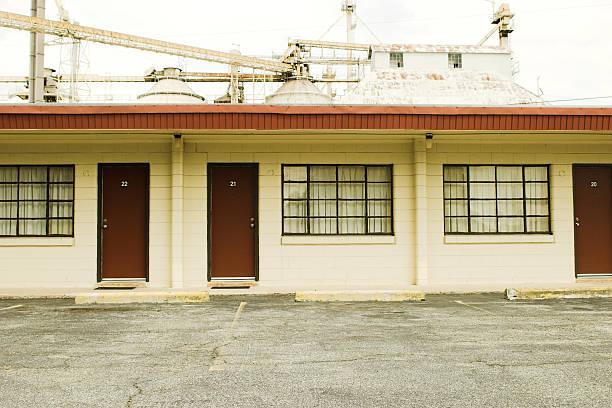 Old Motel Room stock photo