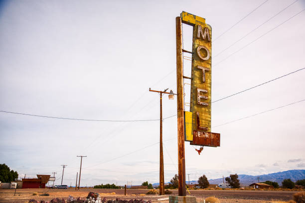 Old Motel Sign Along Route 66 stock photo