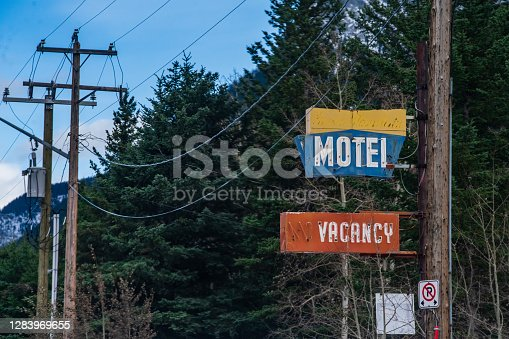 Old Motel Sign - Dead Man's Flats, Alberta, Canada
