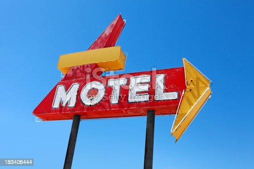 A retro motel sign.