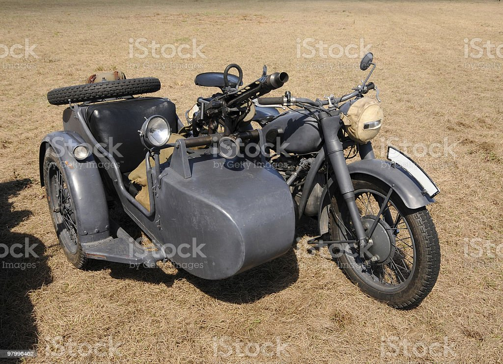 Old motorcycle royalty free stockfoto