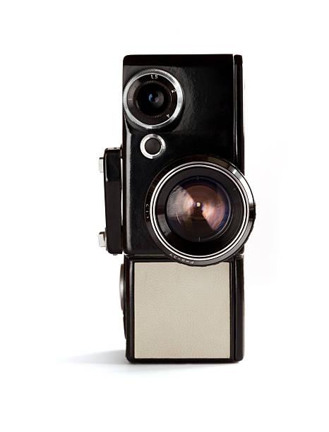 Alte Film-Kamera-Ansicht von vorne – Foto