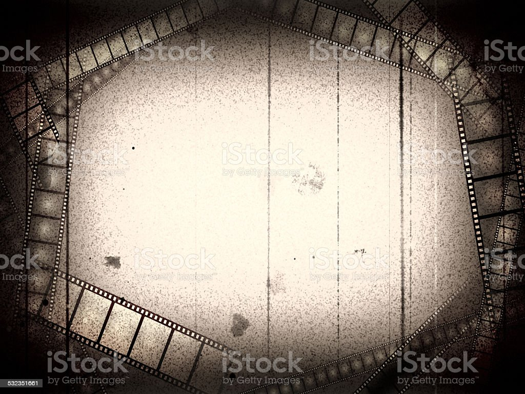 Old movie empty frame stock photo