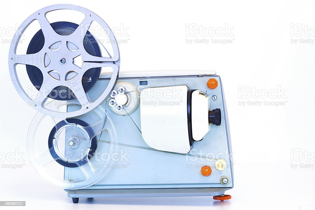 Old movie projector stock photo