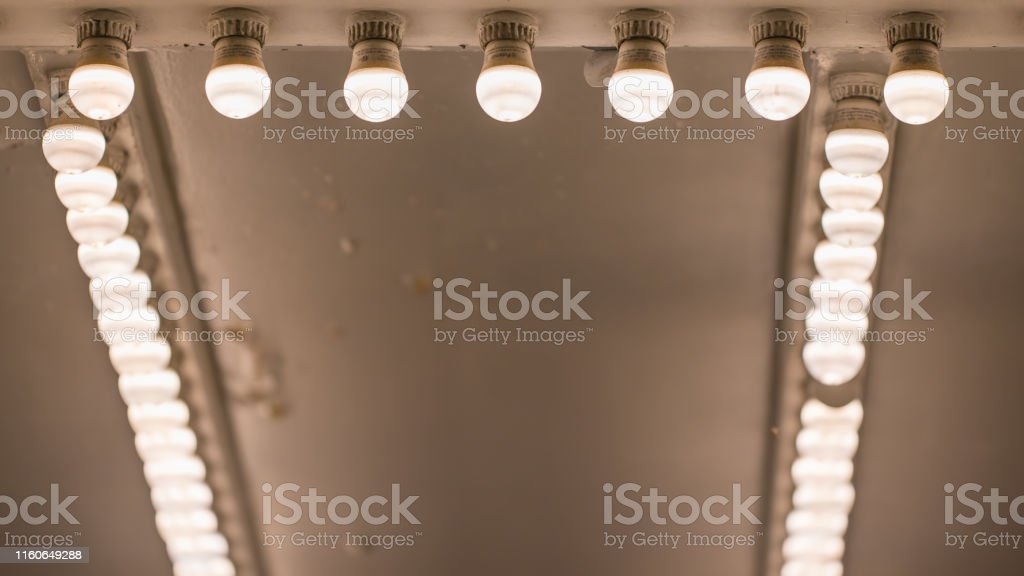 Old Movie Theater Exterior Lights In Entry Way Stock Photo Download Image Now Istock