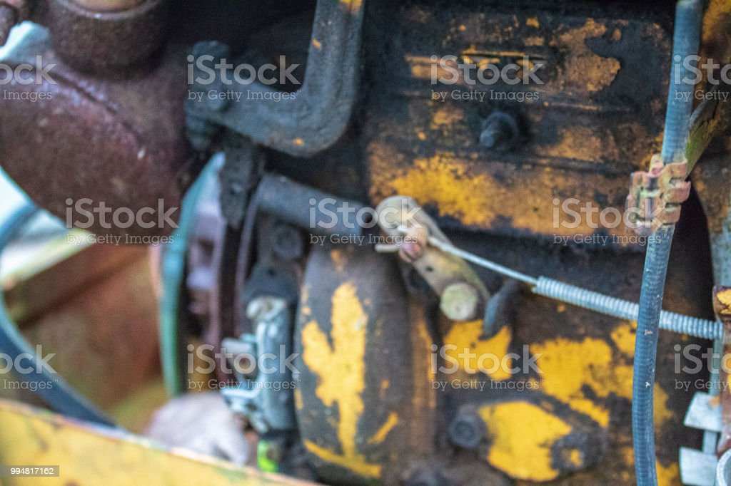 old mower stock photo