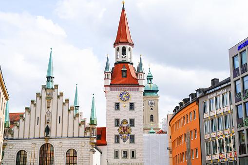 Old Munich Town Hall in Marienplatz Munich